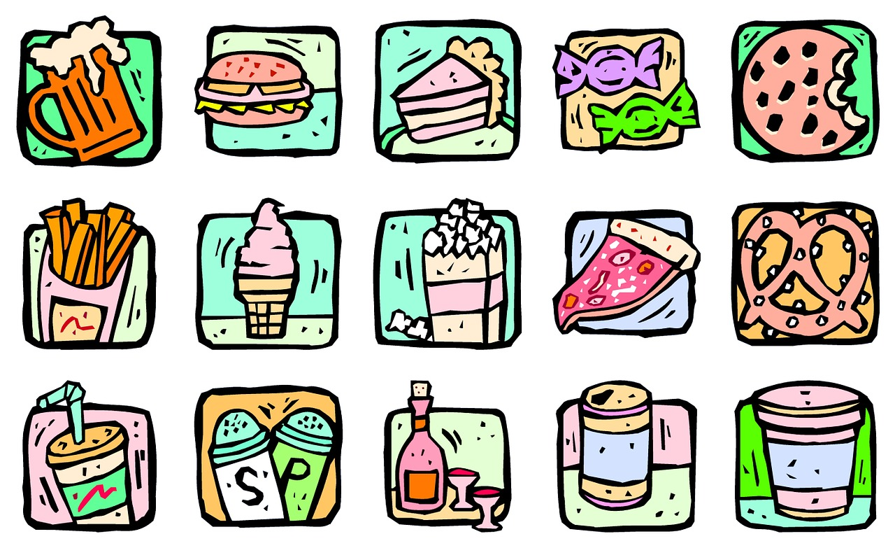 Clipart of Tempting Snacks