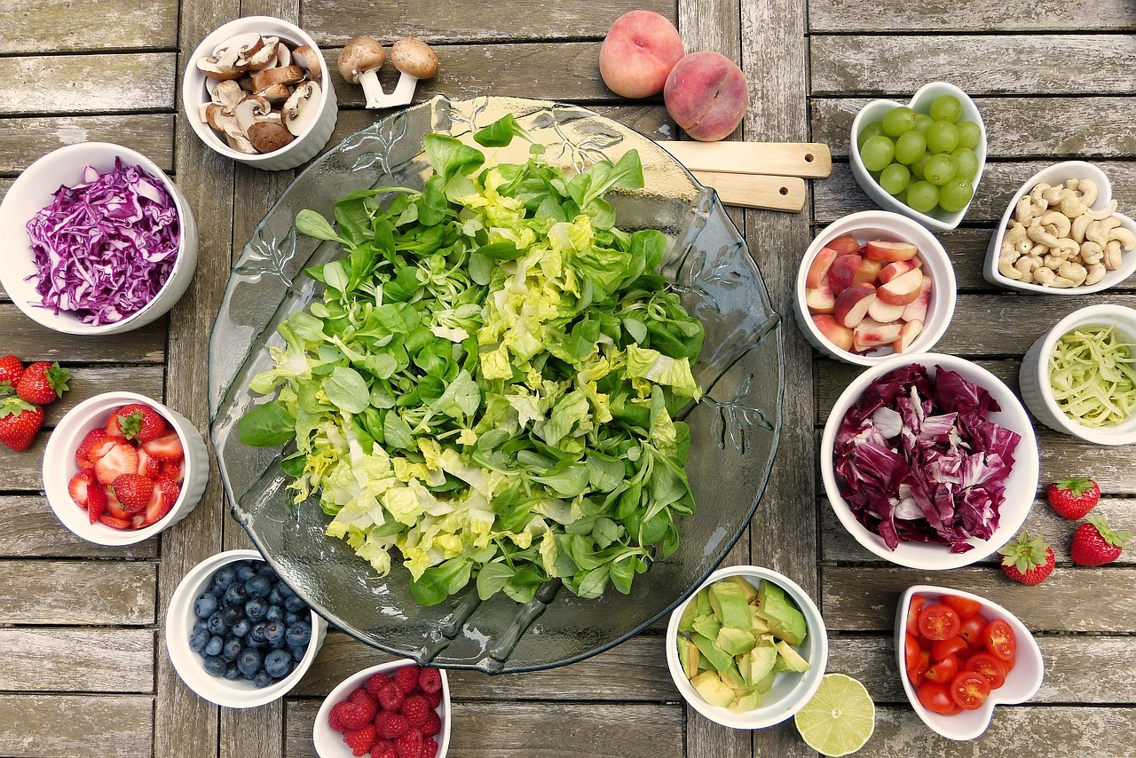 A DIY Salad Prepped on Table