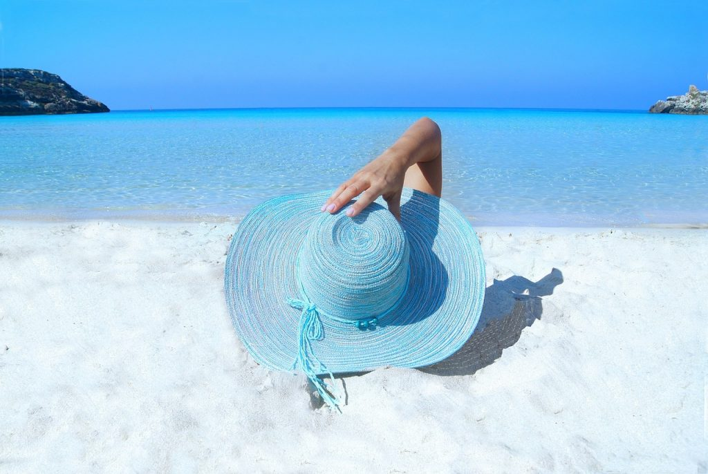 sunbathing on the beach dress for success