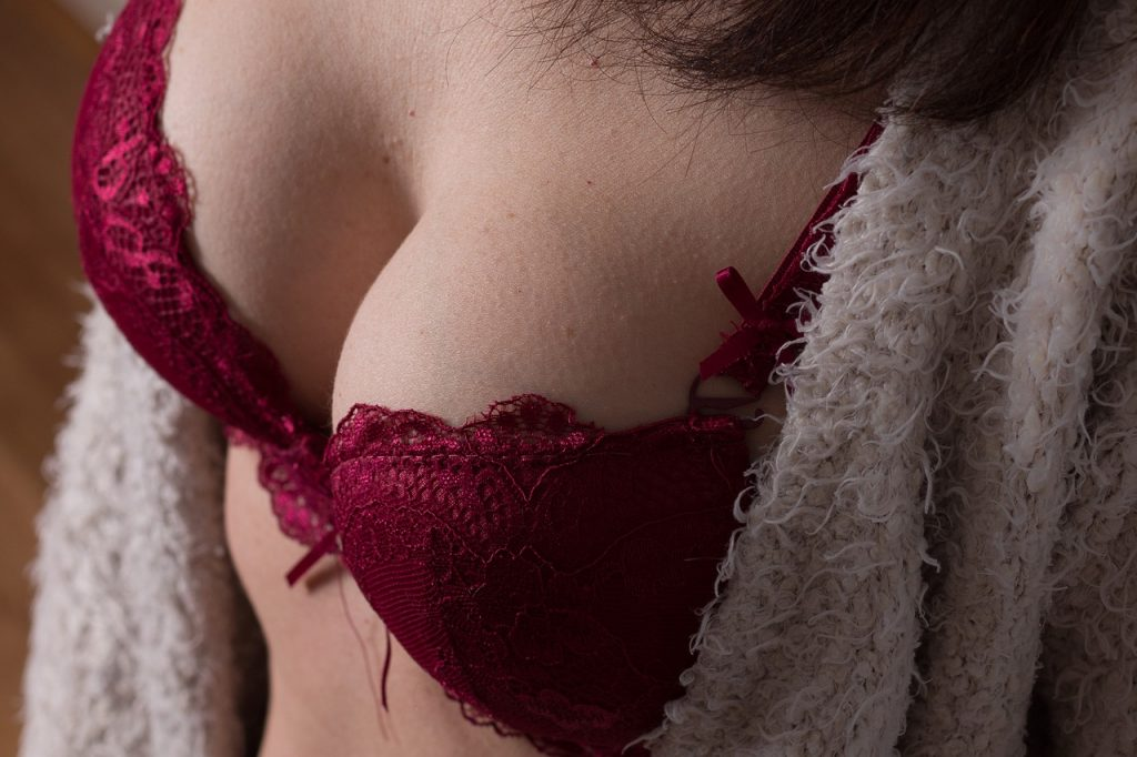 red bra and woman