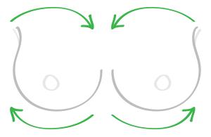 Breast Fat-Brushing Massage Technique