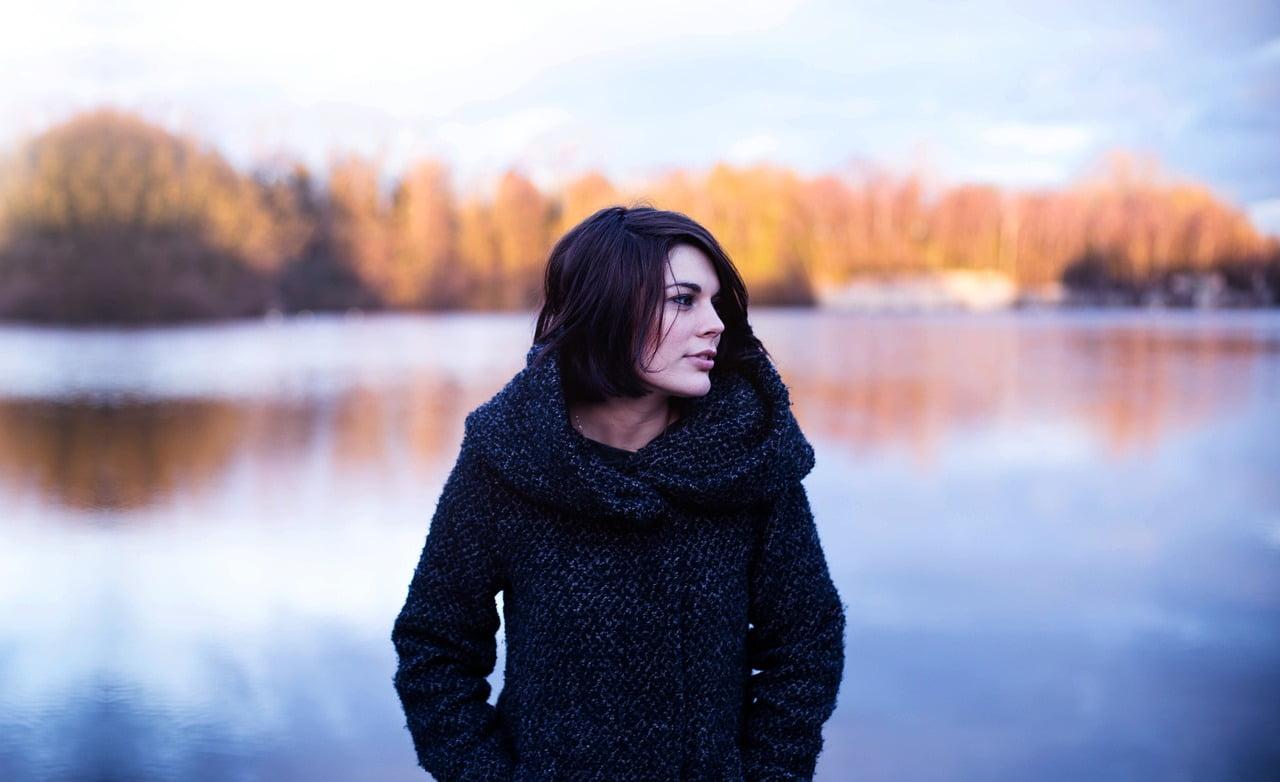 Woman at a lake
