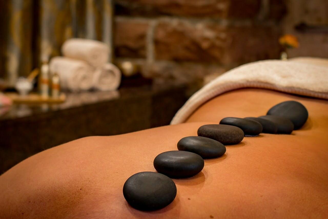 woman massage table