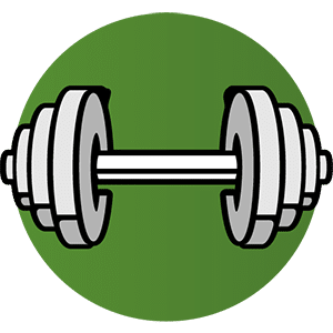 Dumbbells to Exercise Breast Area