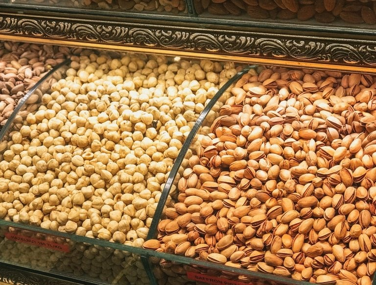 A picture of assorted nuts
